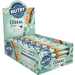 Barra de Cereal Nutry Côco com Chocolate 22g - Display com 24 und