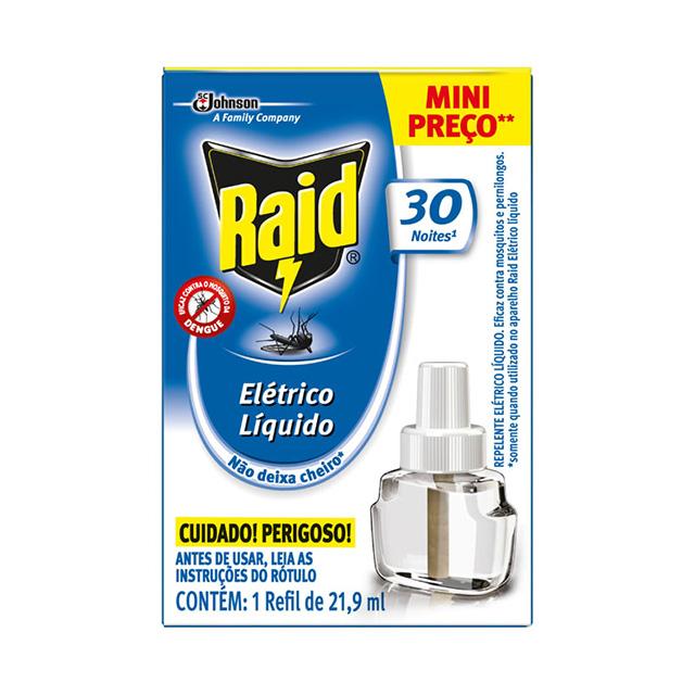 Repelente Raid Elétrico Liquido 30 Noites 21,9ml