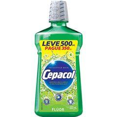 Enxaguante Bucal Cepacol Flúor Leve 500ml Pague 350ml