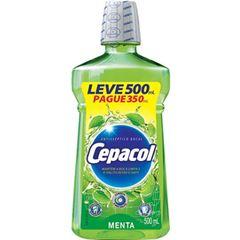 Enxaguante Bucal Cepacol Menta Leve 500ml Pague 350ml